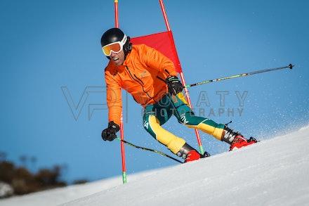 140923_apc_1434 - Australian paralympic ski team athletes training super G during APC speed camp at Perisher, NSW (Australia) on September 23 2014. Photo:...