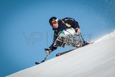 140923_apc_1438 - Australian paralympic ski team athletes training super G during APC speed camp at Perisher, NSW (Australia) on September 23 2014. Photo:...