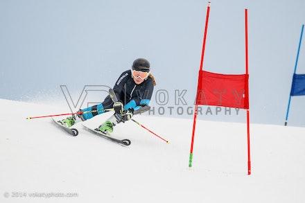 150724_WSCGS_0591 - Perisher Winter Sports Club  athletes training Giant Slalom on Accelerator at Perisher, NSW (Australia) on July 24 2015. Photo: Photo:...
