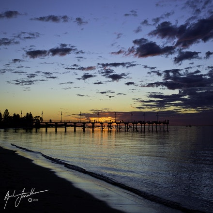 Busselton Jetty At Sunset Wide