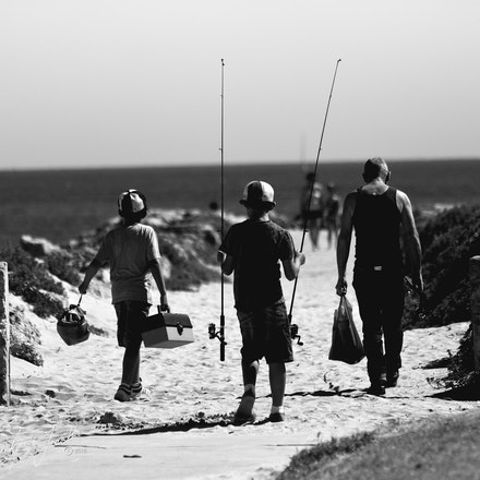 Father Sons Fishin
