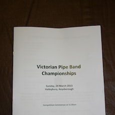 Victorian Pipe Band Championships Haileybury College 2013