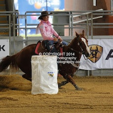 APRA National Finals 2014 - Open Barrel Race -  Round 1