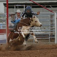 Kyabram APRA Rodeo 2015 - Junior Steer Ride - Sect 1