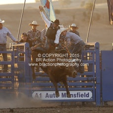 Merrijig APRA Rodeo 2015 - 2nd Div Bull Ride - Sect 2