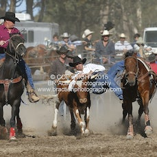 Great Western APRA Rodeo 2015 - Steer Wrestling - Sect 1