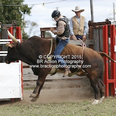 Lang Lang APRA Rodeo 2015 - 2nd Div Bull Ride - Sect 1