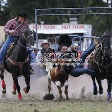 Lang Lang APRA Rodeo 2015 - Steer Wrestling - Sect 2
