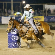 NFR 2015 - Round 3 - Barrel Race