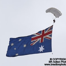 Parachute Drop with Flags