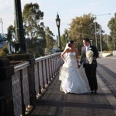 Brooke & Tim - Ceremony: St Dominic's Church Reception: Crown Casino