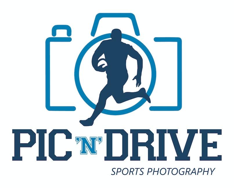 Pic 'n' Drive logo (Blue)
