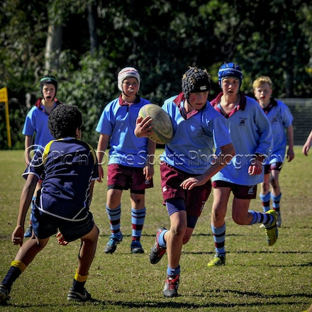 Chev U13 semi v Redlands August 13 - Chevalier played Redlands in a semi-final of the ISA Div II rugby comp at Oakhill on August 13.