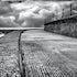Sea Wall, Scarborough, UK. - North Sea battered sea wall Yorkshire coastline.
