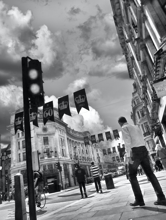 Pause - London Street - A moment in a central London street.