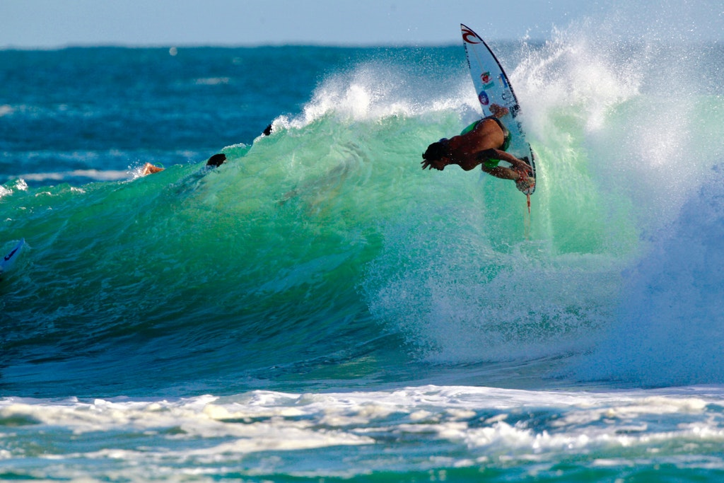 Off the top - Shot at Snapper Rocks at the Quicksilver/Roxy Pro, 2017