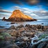 Shimmering Dawn - Sugarloaf Rock - The teardrop shaped Sugarloaf Rock sits just off the coast in the South West of Western Australia.