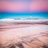 Dark Sand\Bright Sky - Sunshine Coast, Queensland - As a bright full moon rose as the sun set, it illuminated the ocean and beach, and amazing colours...