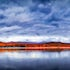 Lake of Fire - Lake Moogerah - Stitched Panorama