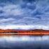 Lake of Fire - Lake Moogerah - Stitched Panorama