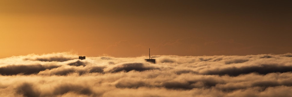 Brisbane in Fog II - Brisbane - As is often common in Brisbane over the winter months, one awakes to often find the city shrouded in fog. This photo was...