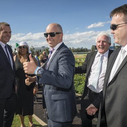 Tarzino-Connections-20160319-4827 - SYDNEY, AUSTRALIA. 19 March 2016.  Tarzino {Tavistock-Zarzino} ridden by Craig Newittwins the Sky Racing Rosehill Guineas...