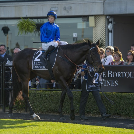 Exosphere-McDonaldJames-09122015-5898 - Exosphere (Lonhro - Altitude) wins the G1 Golden Rose on 12 September 2015.  He was ridden by James McDonald and...