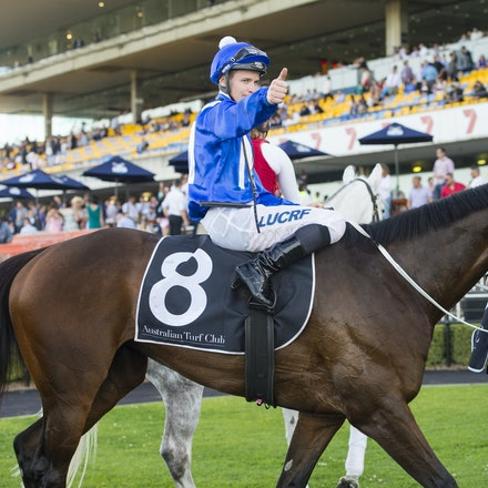 Winx-McDonaldJames-09122015-6100 - Winx (Street Cry - Vegas Showgirl) wins the G2 Theo Marks Stakes on 12 September 2015.  She was ridden by James McDonald...