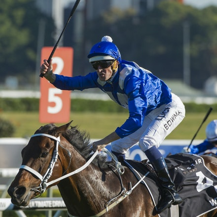 Winx-McDonaldJames-10032015-5375 - SYDNEY, AUSTRALIA. Winx (Street Cry - Vegas Showgirl) wins the G1 Epsom Handicap at Royal Randwick on 3 October 2015....