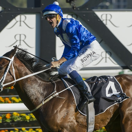 Winx-McDonaldJames-10032015-5384 - SYDNEY, AUSTRALIA. Winx (Street Cry - Vegas Showgirl) wins the G1 Epsom Handicap at Royal Randwick on 3 October 2015....
