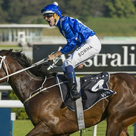 Winx-McDonaldJames-10032015-5389 - SYDNEY, AUSTRALIA. Winx (Street Cry - Vegas Showgirl) wins the G1 Epsom Handicap at Royal Randwick on 3 October 2015....