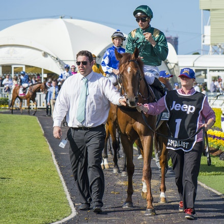 Capitalist-ShinnBlake-01092016-1741 - CAPITALIST (Written Tycoon - Kitalpha), wins the Magic Millions 2yo Classic held at the Gold Coast Racecourse on...