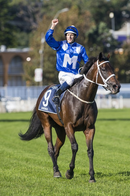 Winx-BowmanHugh-04082017-7864 - WINX (Street Cry - Vegas Showgirl) wins the G1 Queen Elizabeth Stakes, her 17th successive victory.  Photo - Bronwen Healy....