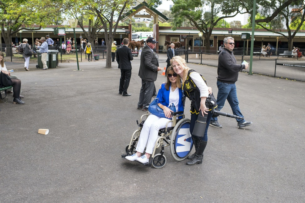 NattCarolyn-10282017-5445 - Carolyn Natt, who suffers from advanced MS, made the special trip from SA to see Winx attempt to win her 3rd Cox Plate.  Photo...
