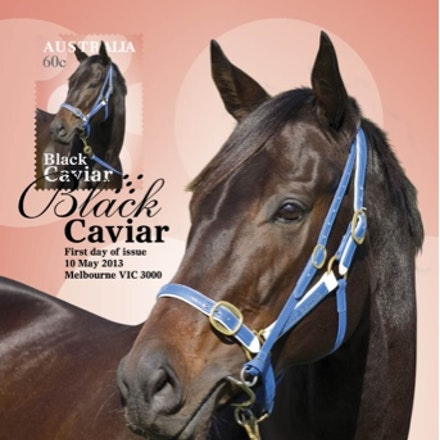 Black Caviar Stamp first day of issue
