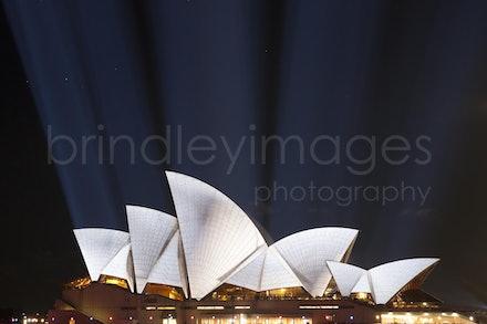 Sydney Opera House #6805 - Sydney Opera House lit during Vivid Festival