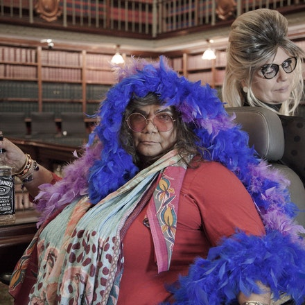 Stormy Weather project - Gaele Sobott and Gayle Kennedy at NSW Parliament House.