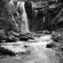 Phantom Falls - Lorne - Black and White - Phantom Falls behind Lorne in the Great Otway National Park in winter