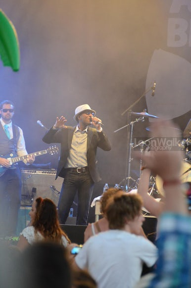Aloe Blacc creating a funk storm