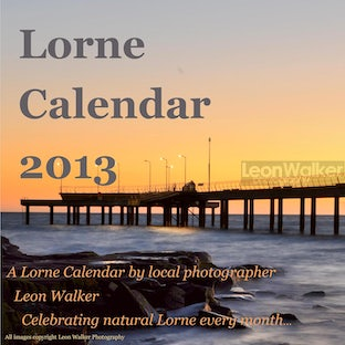 Calendar 2013 - A3 binded 2013 Lorne calendar available now! $25 retail, $10 postage within Australia, $15 overseas.  If you love nature and the ocean,...