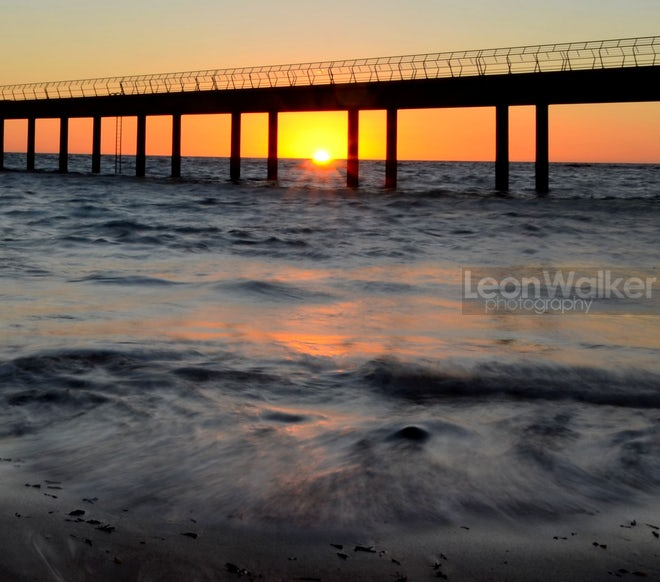 A new day starting at the Lorne pier
