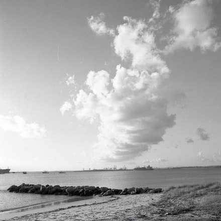 Kurnell Beach and Rocks - Each archival photograph is stamped and signed by Robert and a brief description of how it was taken.