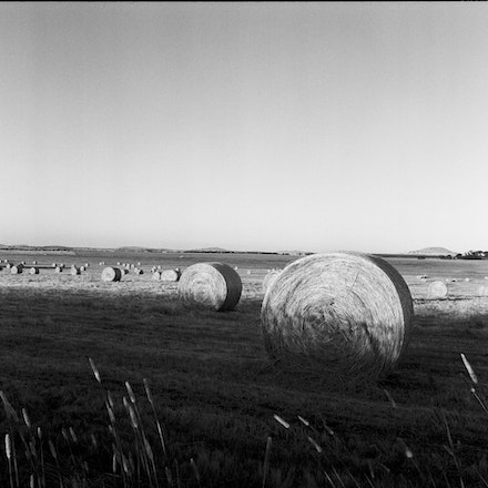 Ballarat Hay Bales 2 - Each archival photograph is stamped and signed by Robert and a brief description of how it was taken.