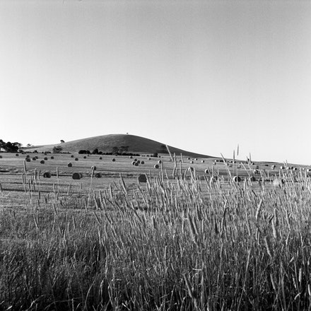 Ballarat Hay Bales 1 - Each archival photograph is stamped and signed by Robert and a brief description of how it was taken.