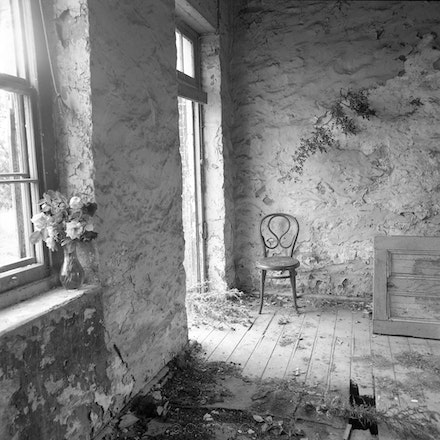 Yass Chair and Vase - Black and white version of The Blue Room.....Each archival photograph is stamped and signed by Robert and a brief description of...