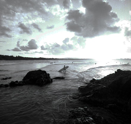 Longboard Surfer Byron Bay - Each archival photograph is stamped and signed by Robert and a brief description of how it was taken. The options are as...