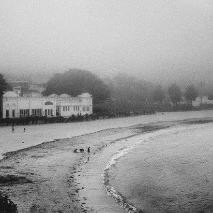 Bathers Pavilion in the Mist - Balmoral - Each archival photograph is stamped and signed by Robert and a brief description of how it was taken.