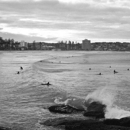 Manly Beach & Surfers - Each archival photograph is stamped and signed by Robert and a brief description of how it was taken.