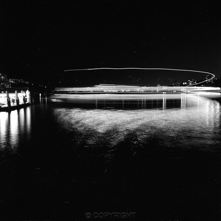 Neutral Bay Ferry Circle - Photographed from Neutral Bay Wharf as the ferry comes in to the wharf.Photographed with a Hasselblad camera ,tripod mounted...