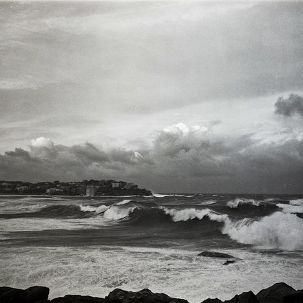 North Bondi Waves - Each archival photograph is stamped and signed by Robert and a brief description of how it was taken.